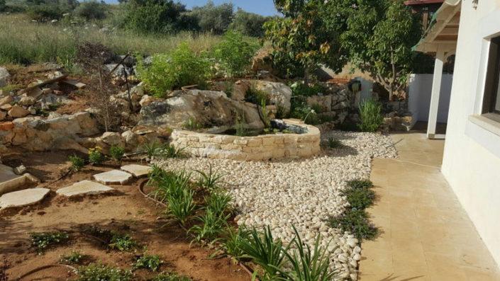 עיצוב ייחודי ומהמם לגינה פרטית במדבר